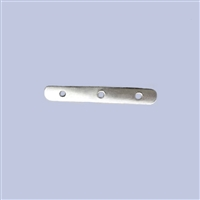 Sterling Silver Divider Bar - 6mm, 3 holes