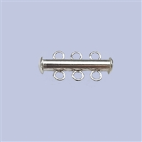Sterling Silver Tube Clasp - 3 Row 22mm