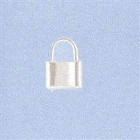 Sterling Silver Padlock Clasp - Medium 12x16mm.