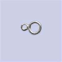 "Sterling Silver Double Ring ""8"" - Small 5mm"