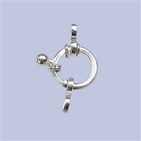 Sterling Silver Fancy Spring Ring 12mm