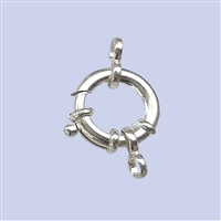 Sterling Silver Fancy Spring Ring 14mm
