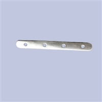 Sterling Silver Divider Bar - 6mm, 4 holes