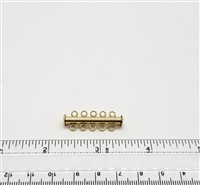 Gold Filled Tube Clasp - 5 Strand 32mm