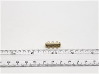 Gold Filled Tube Clasp - 3 Strand 22mm