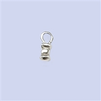 Sterling Silver Crimp End - Designed 1.2mm #1