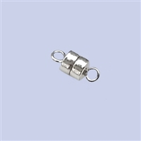 Sterling Silver Magnetic Clasp - Button shape 4.5mm