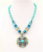 06XL-0099-4 Designed Stone Necklace