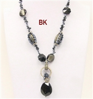 08XL-0046 Designed Stone Necklace. 4 colors available.