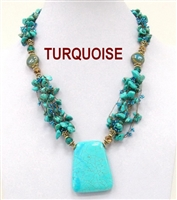 NZXL-0159 Designed Stone Necklace. 2 colors available.
