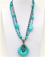 06XL-0009-4 Designed Stone Necklace.