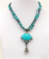 08XL-0020-4 Designed Stone Necklace.