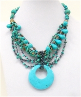 NZXL-0090-4 Designed Stone Necklace.