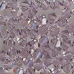 Swarovski 3mm 5301/5328 Bicone - Lt Amethyst Color