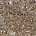 Swarovski 3mm 5301/5328 Bicone - Lt. Co. Topaz Color