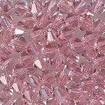 Swarovski 3mm 5301/5328 Bicone - Lt. Rose Color
