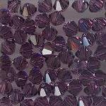 Swarovski 3mm 5301/5328 Bicone - Amethyst Color
