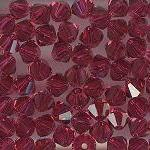 Swarovski 3mm 5301/5328 Bicone - Ruby Color