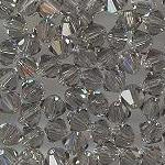 Swarovski 3mm 5301/5328 Bicone - Black Diamond Color.