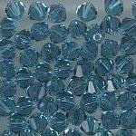 Swarovski 3mm 5301/5328 Bicone - Indicolite Color