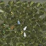 Swarovski 3mm 5301/5328 Bicone - Olivine Color