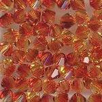 Swarovski 3mm 5301/5328 Bicone - Fire Opal Color