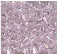 Swarovski 3mm 5301/5328 Bicone - Rosaline Color