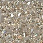 Swarovski 3mm 5301/5328 Bicone - Golden Shadow Color