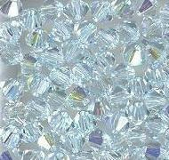 Swarovski 4mm 5301/5328 Bicone - Lt. Azore AB Color