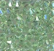 Swarovski 4mm 5301/5328 Bicone - Peridot AB Color