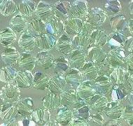 Swarovski 4mm 5301/5328 Bicone - Chrysolite AB Color