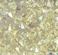 Swarovski 4mm 5301/5328 Bicone - Jonquil AB Color