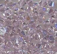 Swarovski 4mm 5301/5328 Bicone - Lt. Amethyst AB Color
