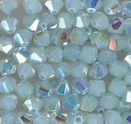 Swarovski 4mm 5301/5328 Bicone - Pacific Opal AB Color