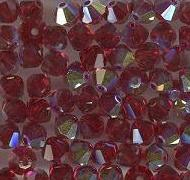 Swarovski 4mm 5301/5328 Bicone - Siam AB Color