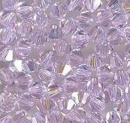 Swarovski 4mm 5301/5328 Bicone - Violet AB Color