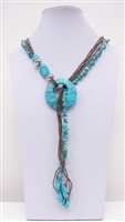 NZXL-0082-4 Designed Stone Necklace.