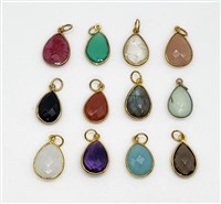 18k Gold over Sterling Silver  Tear Drops 11x16mm Pendants