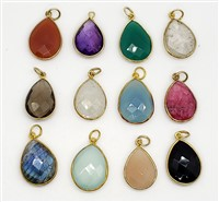 Vermeil Tear Drops Pendants 15x20mm