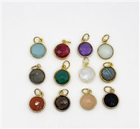 Vermeil  Round 11mm Pendants