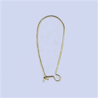 18k Gold over Sterling Silver Earwire - Kidney Large