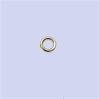 18k Gold over Sterling Silver Jumpring - Open 4.5mm Heavy Duty