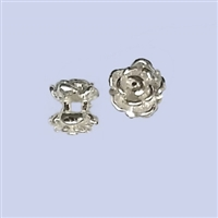 Sterling Silver Rose Bud Beads 6mm
