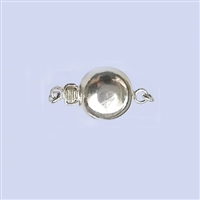 Sterling Silver Flat Round Clasp - 8mm