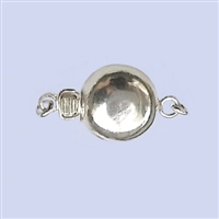 Sterling Silver Flat Round Clasp  - 10mm