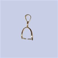 18k Gold over Sterling Silver Bail - Small #1