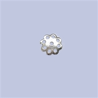 Sterling Silver Beads Cap - Cut out Flower 6mm