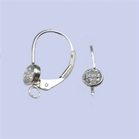 Sterling Silver Leverback Earrings with 4mm CZ