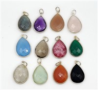 Silver Tear Drop Pendants 15x20mm