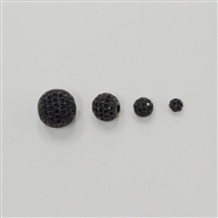 Bead - Round 4mm Black